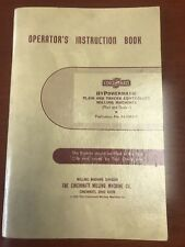 Operator's Instruction Book For Cincinnati Hypowermatic