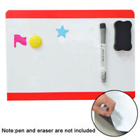 A4 Flexible Fridge Magnetic Whiteboard Memo Reminder Board Magnet new