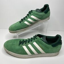 Adidas Gazelle 675001 Mens 11.5 Green Suede Leather Shoes