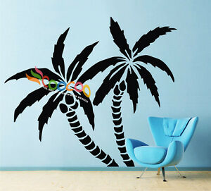 """Wall Decor Decal Sticker Removable Palm Trees 72""""H x 83""""W single color DC0116"""