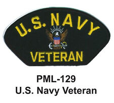 4 INCH-U.S. NAVY VETERAN - Embroidered Military Large Patch
