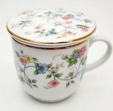 Vtg Andrea By Sadek Carona Tea Cup Strainer Infuser Lid 3 Piece Set Japan Euc