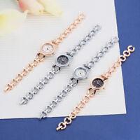 LVPAI Women Mini Round Dial Analog Quartz Wrist Watch Steel Bracelet Wristwatch