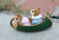 Wee Forest Folk Mice on Row Boat 1981 William Peterson | Ships Same Day