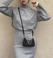 New Authentic PRADA Re-Edition nylon mini shoulder bag black