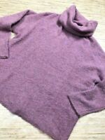 X-102~ Catherine Malandrino Womens Pullover Sweater LAVENDER Turtleneck Size XS