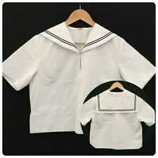 Japanese schoolgirl uniform top, Sailor top, small, Japan import (S2606)