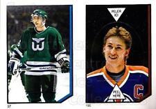 1986-87 O-Pee-Chee Stickers #057-195 Ray Ferraro, Wayne Gretzky