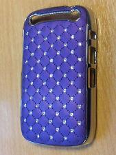 Flower Clear Glitter Diamond Pearl Hard Case cover for Blackberry Curve 9320
