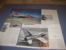 VINTAGE..NORTH AMERICAN F-107A..HISTORY/PHOTOS/3-VIEWS/DETAILS..RARE! (371Q)