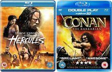 Hercules Dwayne Johnson + Conan the Barbarian 2011 (2D + 3D) Blu Ray Region B