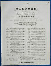 OPÉRA PIANO CHANT PARTITION DONIZETTI LES MARTYRS SCRIBE WAGNER DUPREZ 1840