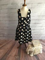 NWT Ann Taylor LOFT Polka Dot Dress Cute Casual Women's 12/ Large L (E07)