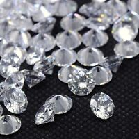 2.5mm 3mm 4mm 5mm 8mm Clear Grade A Crystal Diamond Beads Faceted DIY Crafts