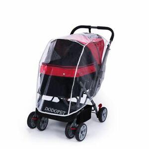 Outdoor Cat Dog Cart Carrier Folding Travel Pet Stroller Rain COVER Waterproof
