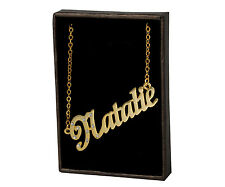 """Name Necklace """"NATALIE"""" - 18ct Gold Plated - Accessories Wedding Custom Made"""