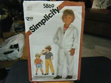 Simplicity 5869 Boy's Pants or Shorts, Shirt & Unlined Jacket Pattern - Size 4