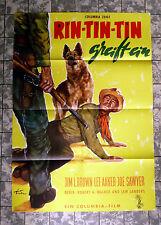 Rin-Tin-Tin accède un * a1-affiche cinema GER 1-SHEET'59 challenge of Rin Tin Tin