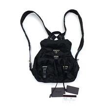 Prada Vintage Small Backpack Bag Black Nylon Authentic w/Guarantee Card