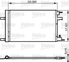 Kondensator, Klimaanlage VALEO 814201 für CHEVROLET OPEL
