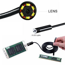 7MM Car Inspection Cable Camera HD Lens Dual USB 6 LED Night Vision Borescope