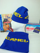 Vintage 93 Joe CAMEL Blue, Knit, SKI HAT. Toboggan, Toque, Cap. NEW n BOX