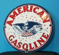 VINTAGE AMERICAN GASOLINE PORCELAIN GAS MOTOR OIL SERVICE STATION PUMP SIGN