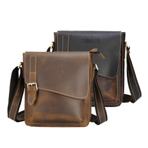 Men Genuine Leather Shoulder Messenger Bag Business Cross Body Bag Satchel