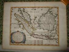 1652 MAP,SONDE ISLANDS,INDONESIA,SINGAPORE,MALAYSIA,JAVA,SUMATRA,BORNEO,BATAVIA