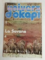 N28 Rivista Universo Okapi N° 90 La Savane, Zebra, Leopardo, Elefante, Giraffa