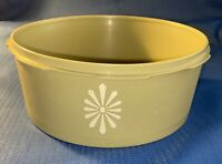 Vintage Tupperware 1204-3 Olive Green Replacement Bowl No Lid Servalier Canister