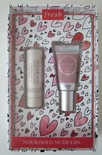 FRESH Nourished Nude Lips Treatment Travel Size Set Sugar Cream & Tinted SPF 15