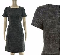 ex Monsoon Lynette Self-tie Sash Pockets Tweed Dress Office Work