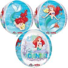 "Amscan 15"" ORIGINALE FOIL Orbz Palloncino See-Thru Disney Princess Ariel Compleanno"