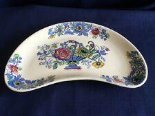 "Masons Strathmore 8"" crescent shaped dish (glaze inclusion)"