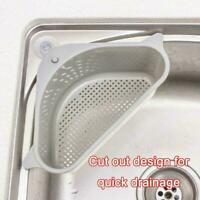 Triangle Multifunctional Storage Holder Drain Shelf Storage Kitchen Rack Su V2Z3