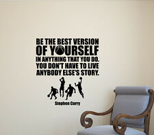 Stephen Curry Wall Decal NBA Quote Gift Vinyl Sticker Basketball Home Poster 568