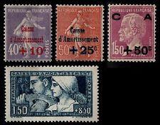 L'ANNÉE 1928 Complète, Neufs * = Cote 287 € / Lot Timbres France 249 à 252