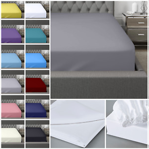 Extra Deep Fitted Sheet 400 Thread Count 100% EGYPTIAN Cotton Single Double King