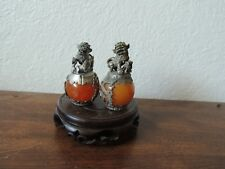 Chinese Fengshui Foo Dog Statue (Pair)