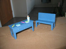 TV SERIES PEPPA PIG SPARE SCHOOL SET DESK TABLE CRAYONS CHAIR BENCH PLAY FURNITU