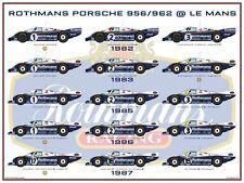 Postcard Rothmans Porsche 956 / 962 @ Le Mans