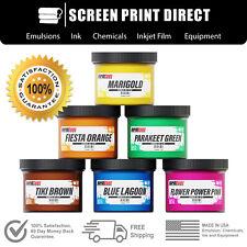Screen Printing Plastisol Ink Kit Low Temp Cure 270f 6 Tropical Colors 8oz