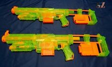 1 NERF  Green CS-6 Recon with Front Barrel ~ 2 Clips