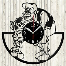 Disney Pinocchio Vinyl Record Wall Clock Decor Handmade 2252