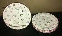"(5) Johnson Brothers SWEETBRIAR 9 3/4"" Dinner Plates"