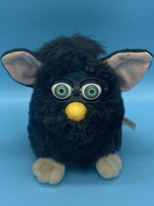 "Original 1998 Tiger Black  ""Witch's Cat"" Furby Blue Eyes with Tag Works"