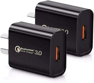 2x Qualcomm SUPER FAST 18W Quick Charge QC3.0 Universal USB Wall Charger AU Plug