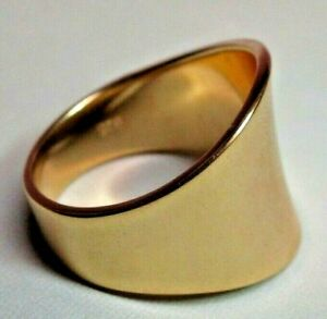 ESTATE 925 Gold Colored Sterling Silver Ring Band Size 11 - Milor Italy 8.24g
