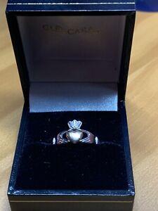 Glencara White Gold & Rose Gold 10K Claddagh Ring Size 6
